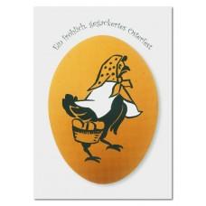 Osterkarte »Ein fröhlich gegackertes Osterfest«